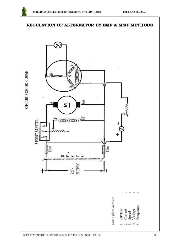 electrical machines 2 lab manual for 2013 regulation