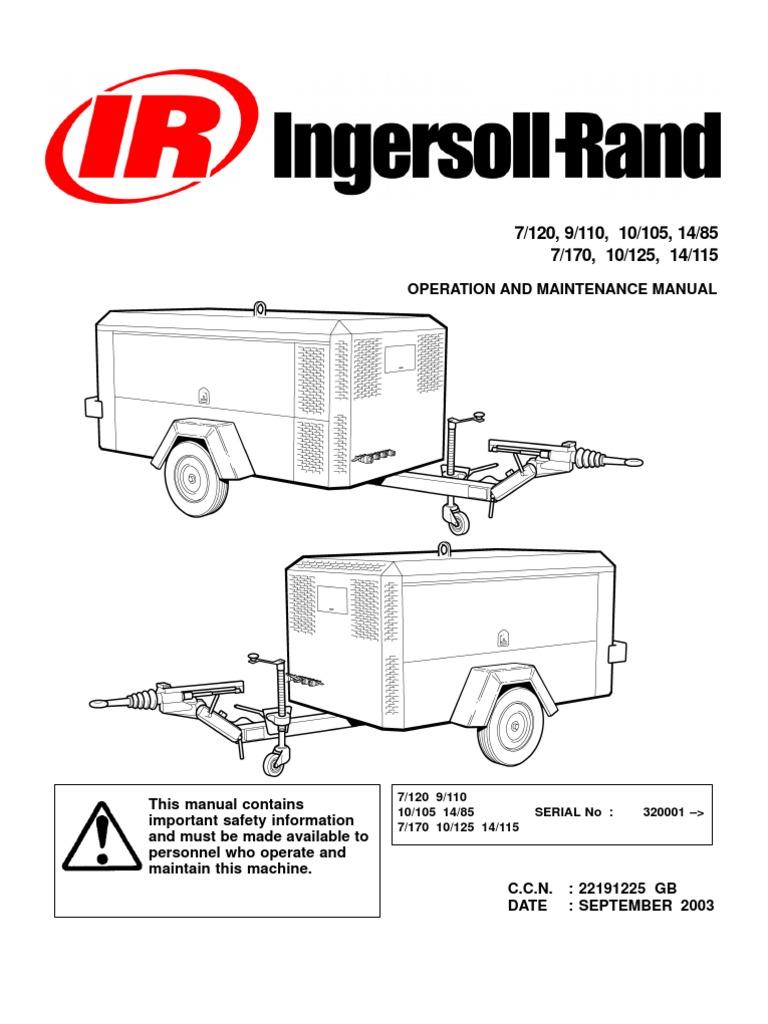 ingersoll rand 375 air compressor service manual