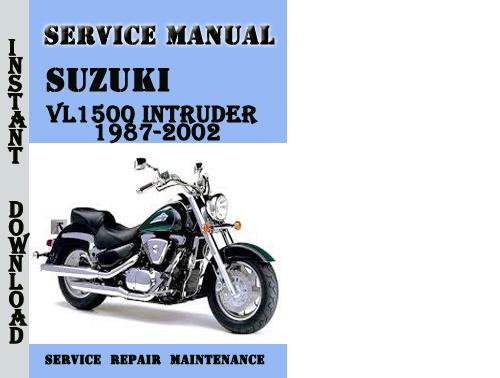 2002 suzuki intruder 1500 owners manual