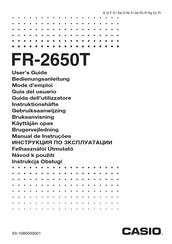 casio fr 2650t user manual