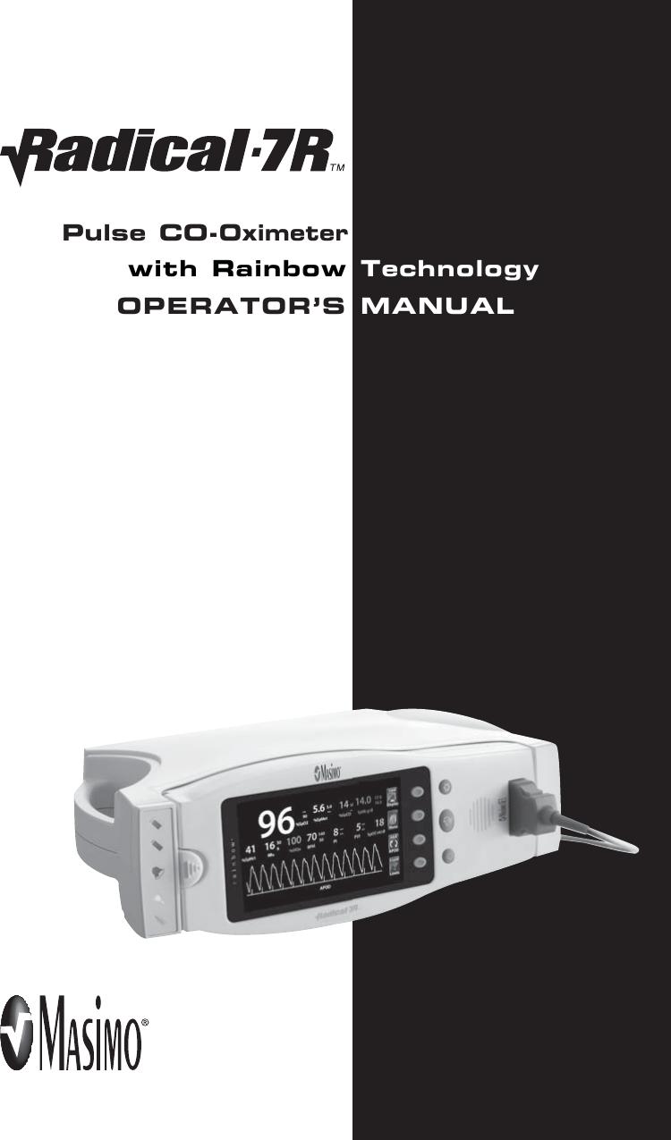 masimo radical 7 rainbow service manual