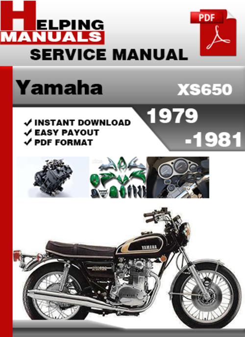 1981 yamaha maxim 650 service manual