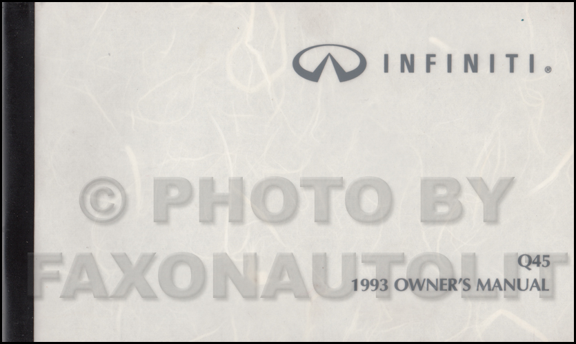 1997 infiniti q45 owners manual