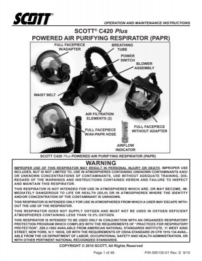 scott av 2000 user manual