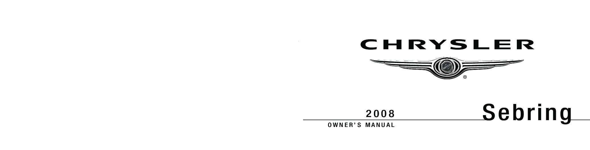 2002 chrysler sebring owners manual