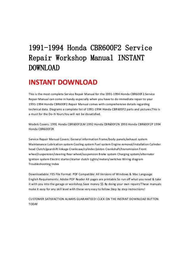 2002 honda cbr 600 f4i service manual download
