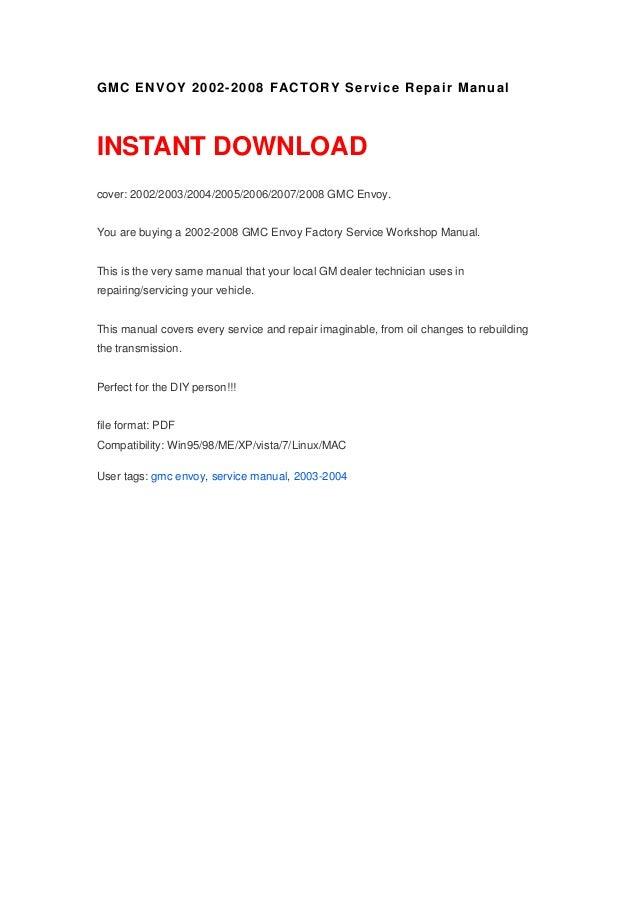 2003 gmc envoy owners manual pdf