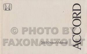 2003 honda accord owners manual ebook