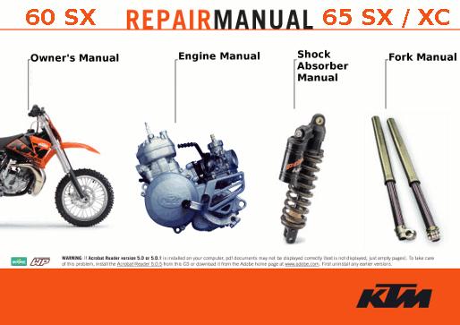 2004 ktm 65 sx service manual