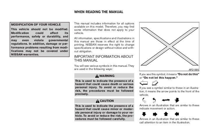 2008 nissan xterra owners manual