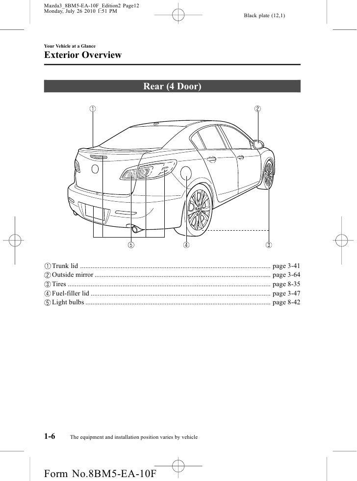 2012 mazdaspeed 3 owners manual pdf