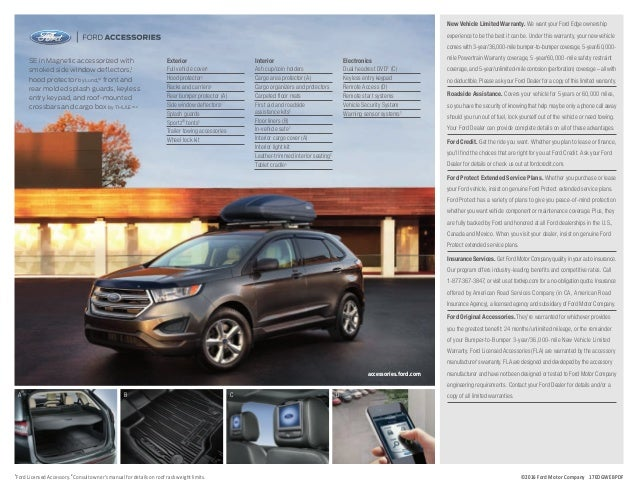 2017 ford edge owners manual