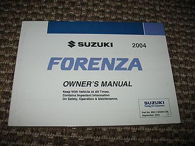 2004 suzuki forenza owners manual pdf