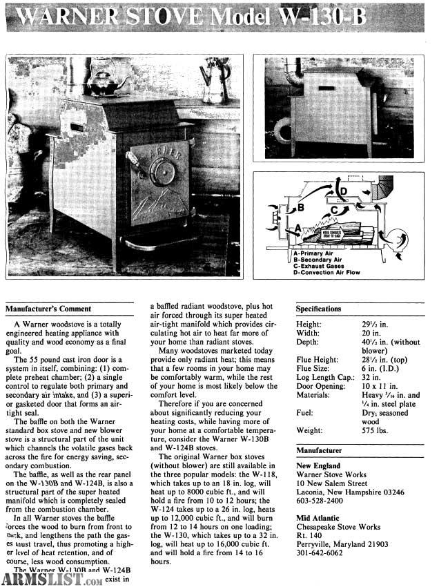 garrison 2 wood stove manual