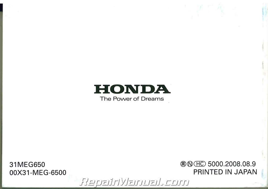 2009 honda shadow spirit owners manual