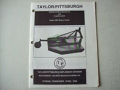 taylor pittsburgh 962 tiller owners manual