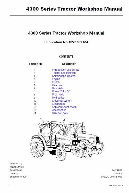 massey ferguson 4370 service manual