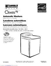 kenmore elite oasis he washer owners manual