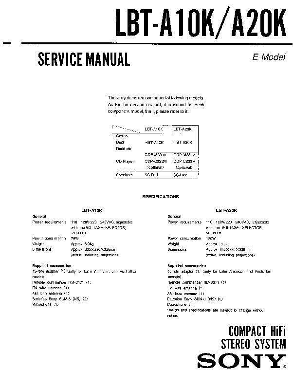 sony lbt d307 user manual