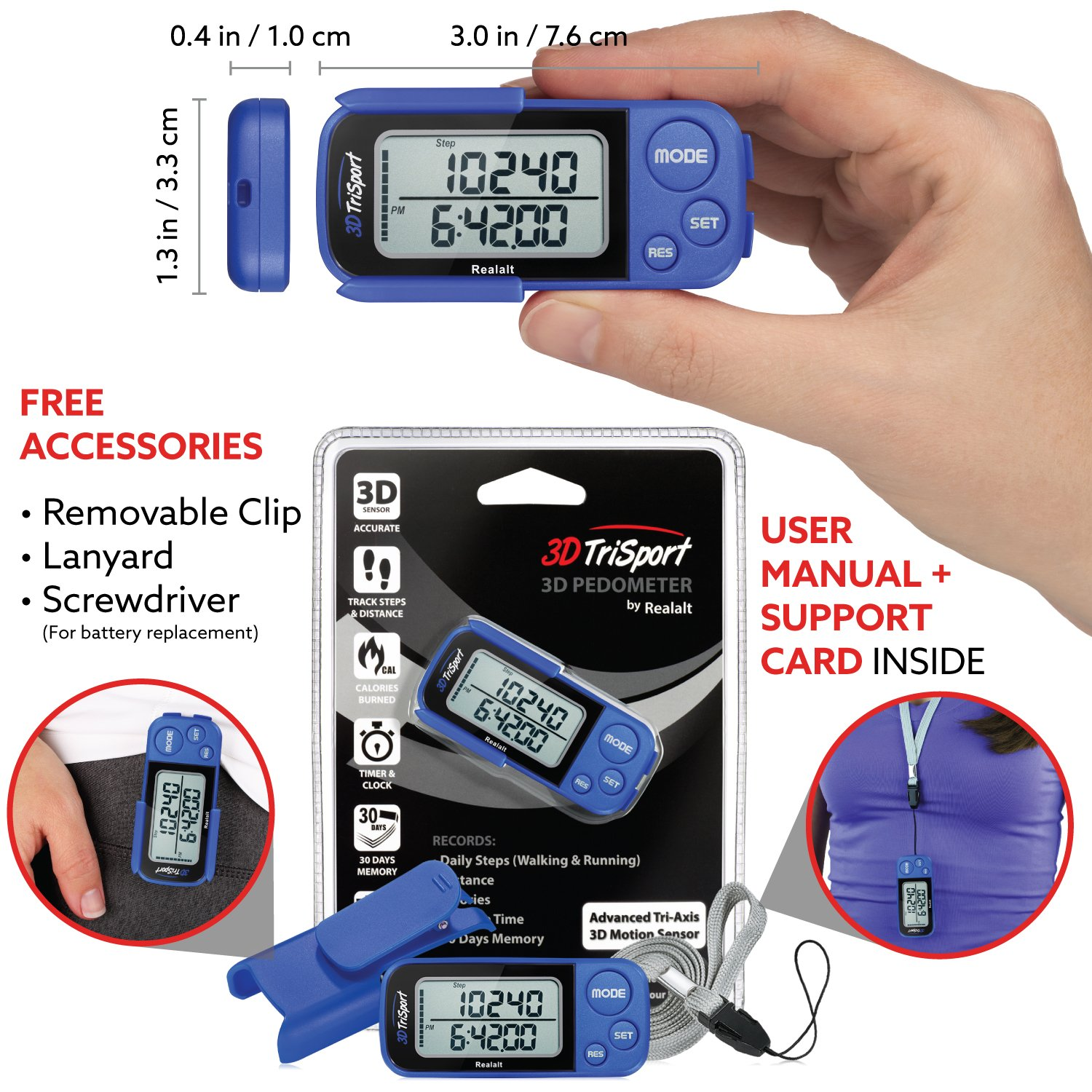 3dtrisport walking 3d pedometer user manual