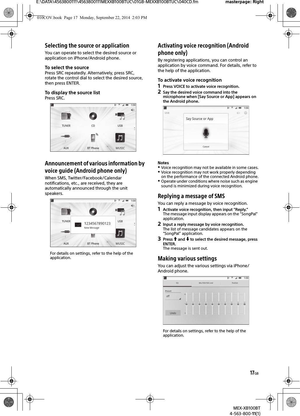 sony mex xb100bt user manual