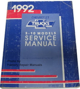 1992 chevrolet blazer owners manual