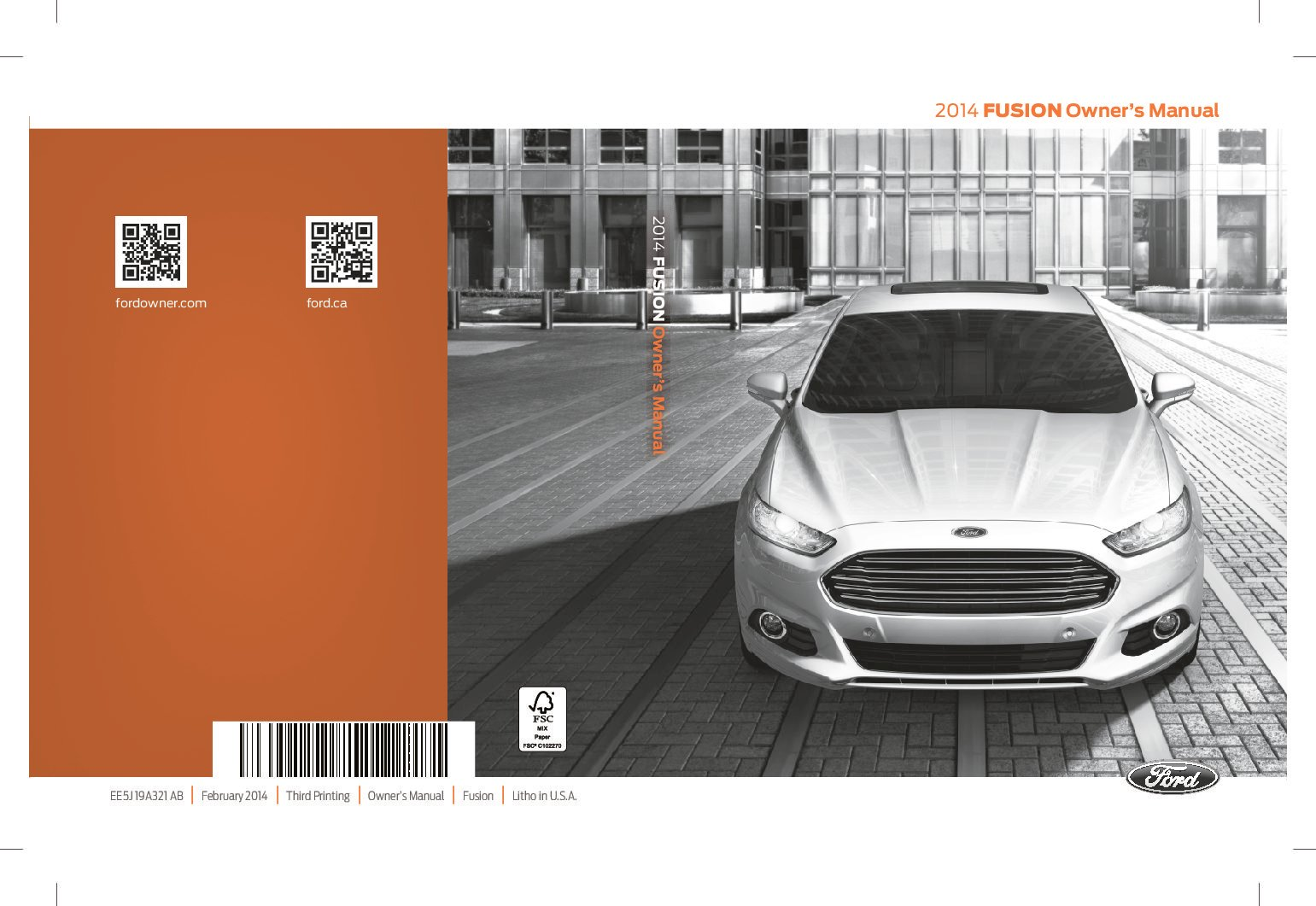 2014 ford fusion se owners manual
