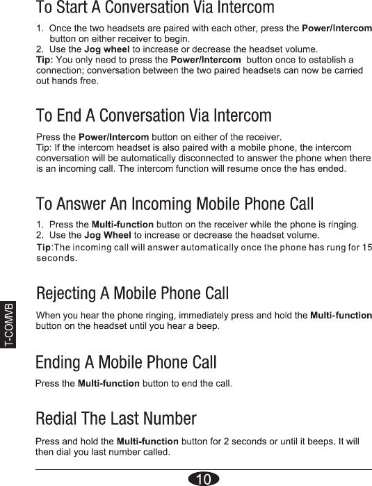 freedconn tcom sc user manual