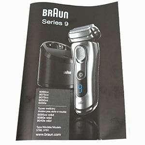 braun series 9 owners manual