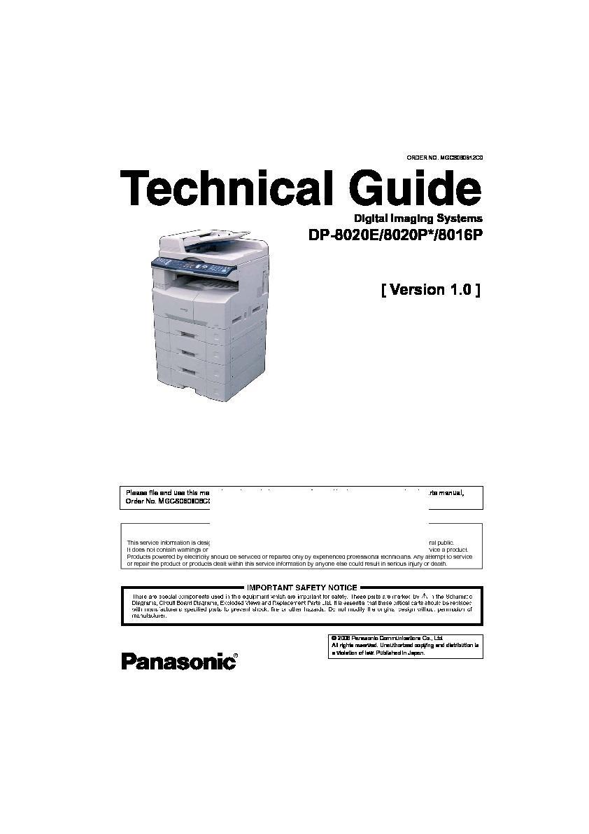 panasonic dp 8020e service manual