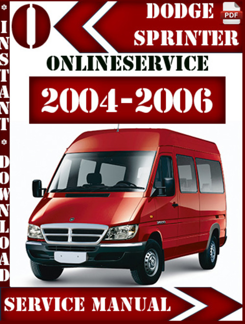 2004 dodge sprinter service manual