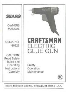 sears craftsman owners manuals online