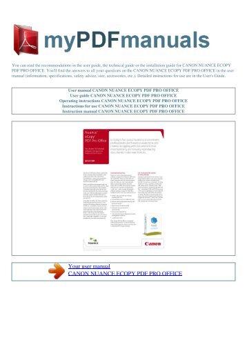 nuance ecopy pdf pro office user manual