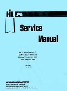 cub cadet 1720 service manual