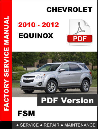 2012 chevy equinox service manual
