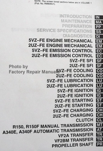 2000 toyota tundra factory service manual