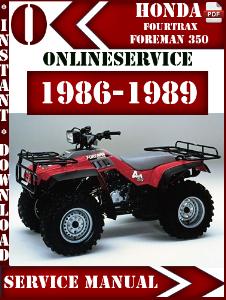 1987 honda fourtrax 350 service manual