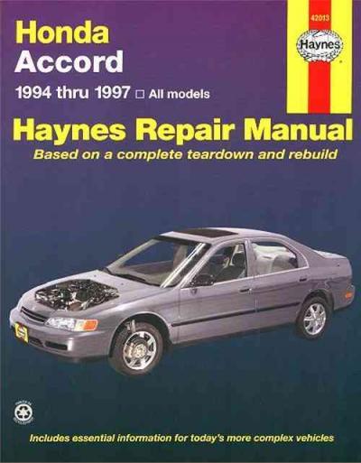 1997 honda accord service manual