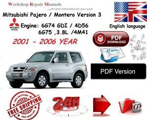 2001 mitsubishi montero owners manual pdf