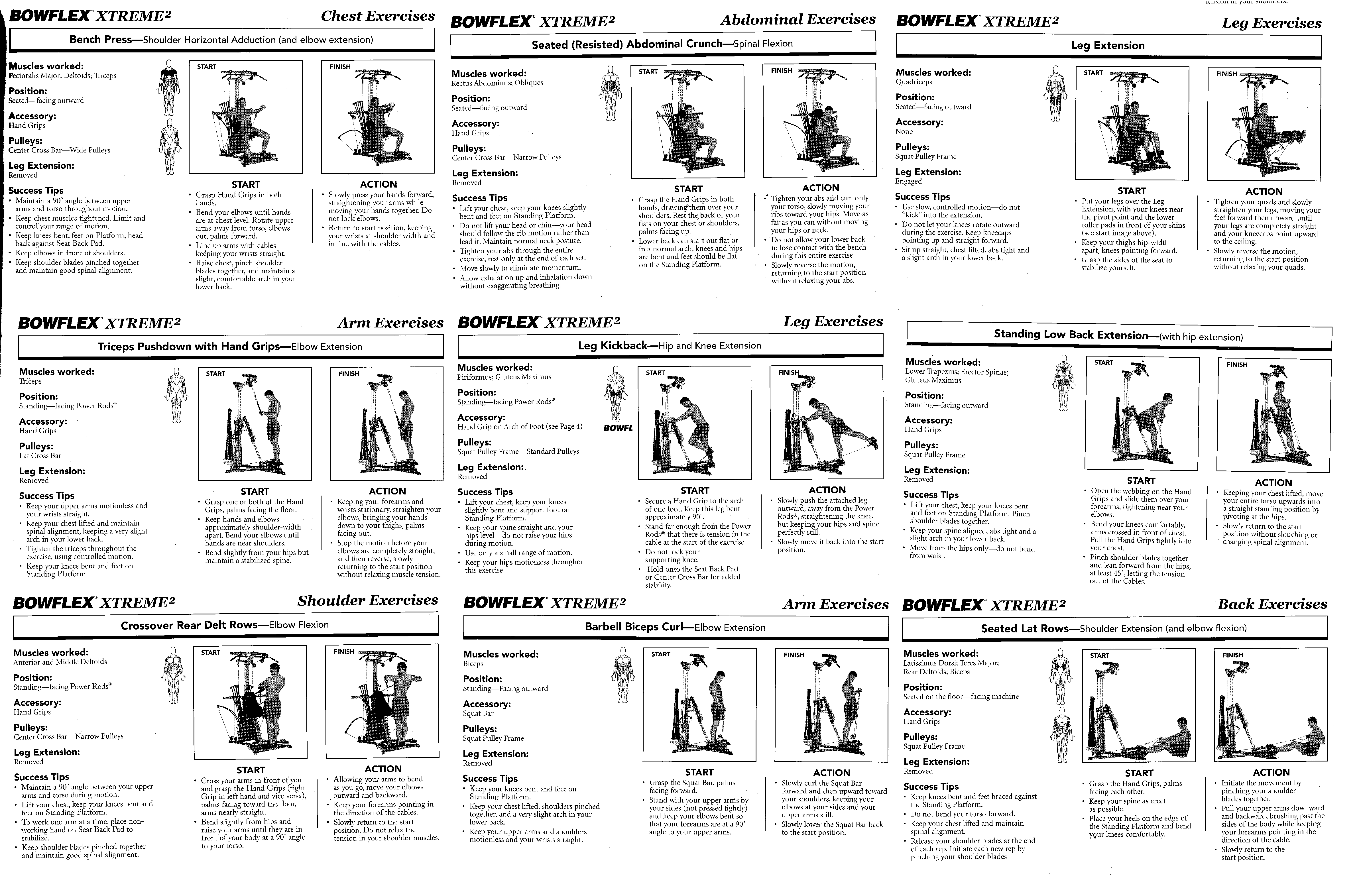 bowflex xtreme 2 exercise manual pdf