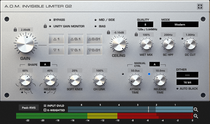 aom invisible limiter 2 manual