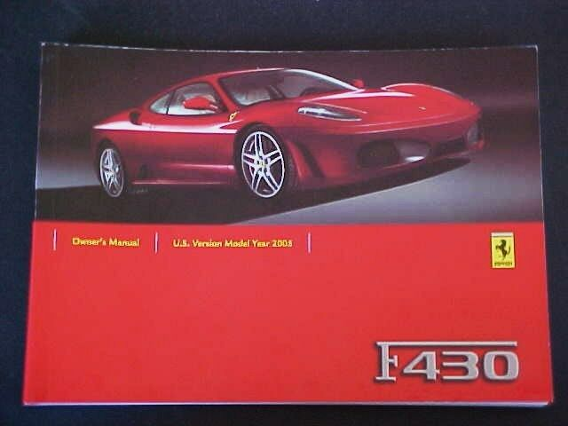 ferrari f430 owners manual pdf