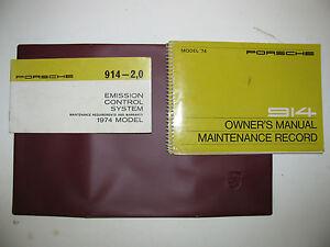 porsche 914 owners manual pdf