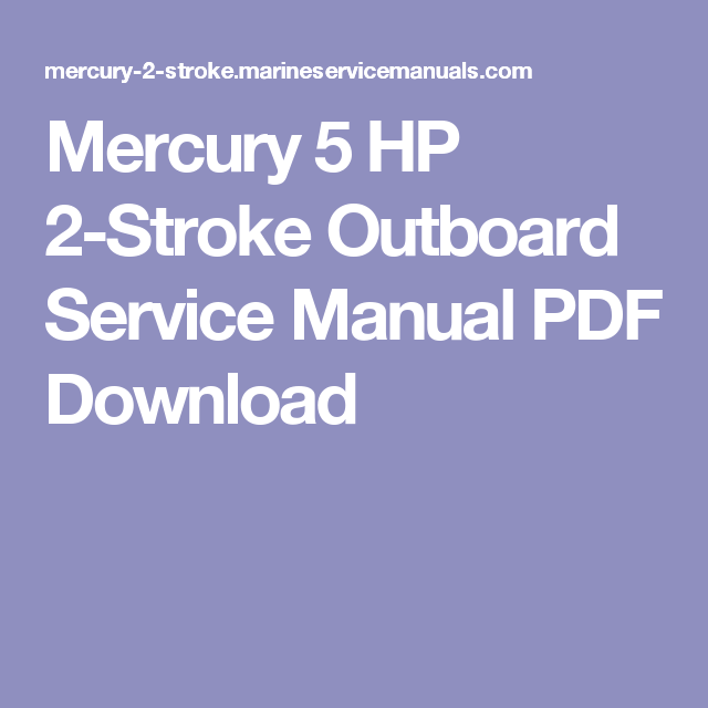 download mercury outboard service manual