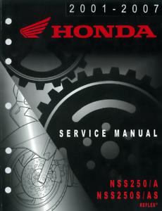 honda reflex 250 service manual