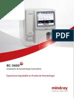 mindray bc 3000 plus user manual