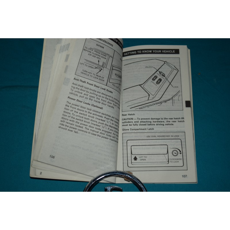 1988 ford mustang owners manual
