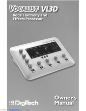 digitech vocalist live 5 owners manual