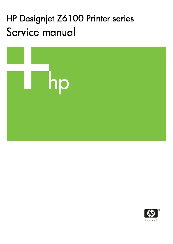 hp designjet z6100 service manual pdf