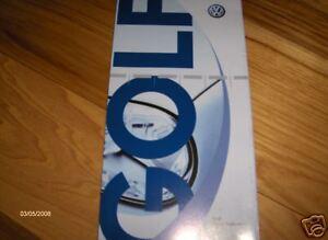 volkswagen golf owners manual 2006